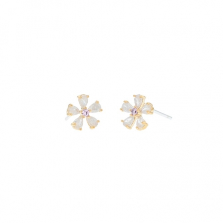 Eileen crystal flower earrings