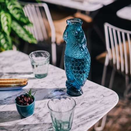 Beautiful Cockatoo carafe - Blue