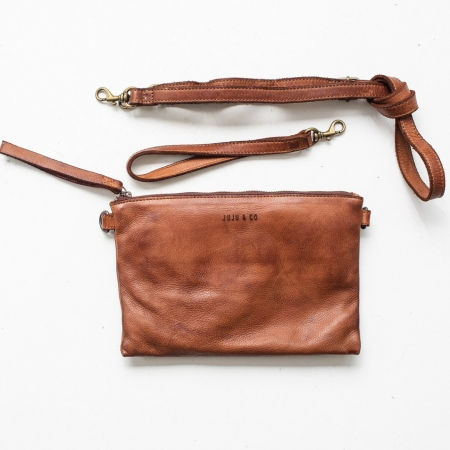 Monterey Leather Crossbody-cognac