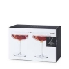 Faceted Crystal Coupe Glasses-set of 2 boxed