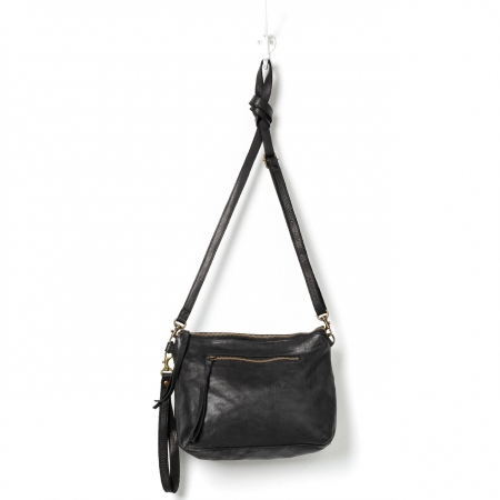 Essential Leather Pouch Bag- black